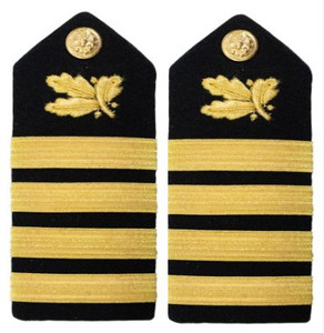 Navy Captain Hard Shoulder Board- Supply Corps