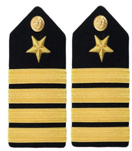 Navy Captain Hard Shoulder Board- Line- female
