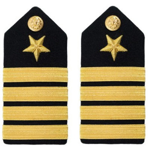 Navy Captain Hard Shoulder Board- Line