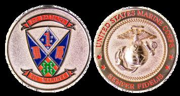 Marine Corps Coin: Marine Corps 2nd Battalion 5th Marines