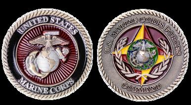 "Marine Corps Coin: 1.75"" MARFORCOM"
