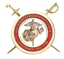 "Marine Corps Spinner Coin: 4"" Marine Corps November 10th, 1775"