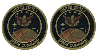 Air Force Patch: US Space Command - OCP with hook Pair