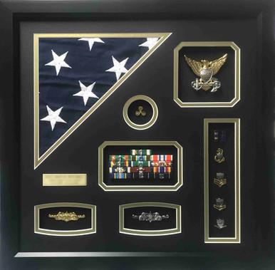 U.S.C.G. Warrant Officer Shadow Box Display Frame