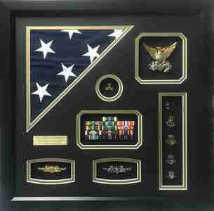 U.S.C.G. Warrant Officer Shadow Box Display Frame