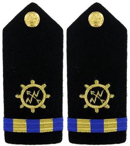 Navy Warrant Officer 2 Hard Shoulder Board- Operations Technician