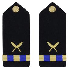 Navy Warrant Officer 3 Hard Shoulder Board- Ship Clerk
