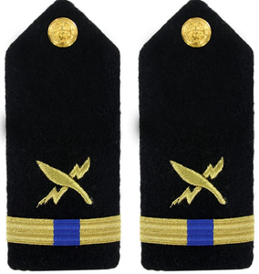 Navy Warrant Officer 4 Hard Shoulder Board-  Cryptologic Technician