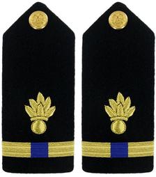 Navy Warrant Officer 4 Hard Shoulder Board-  Ordnance Technician