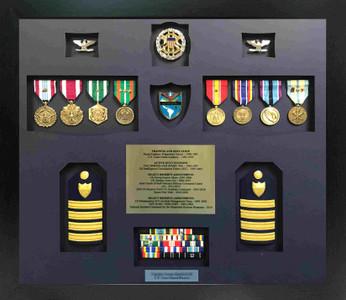 U.S. Coast Guard Reserve Retirement Shadow Box Display