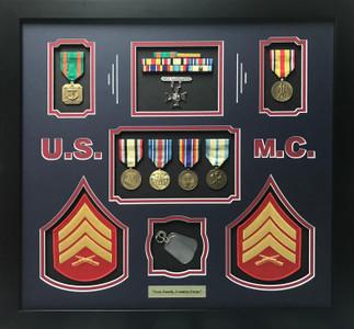 U.S.M.C. Shadow Box Display