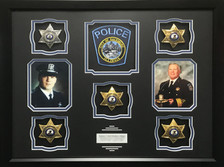 Galesburg Police Retirement Shadow Box Display