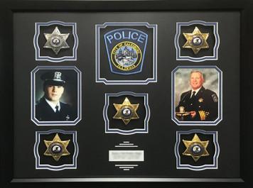 Galesburg Police Retirement Shadow Box Display