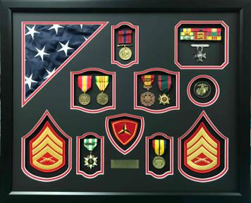 U.S.M.C. Vietnam Era Shadow Box Display