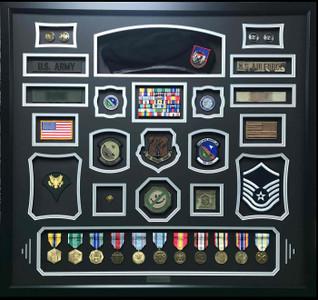 Army / Air Force Shadow Box Display