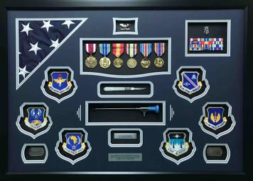Air Force Surgeon Shadow Box Display