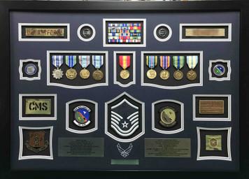 Air Force Retirement Shadow Box Display