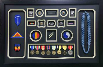 Army Infantry Retirement Shadow Box Display