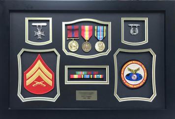 United States Marine Corps Shadow Box Display Frame