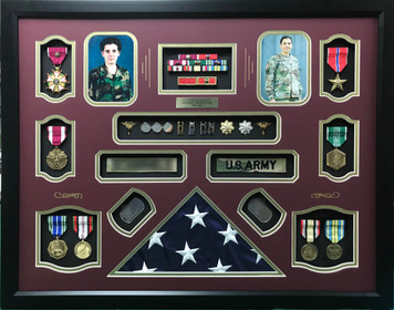 United States Nurse Corps LTC Shadow Box Display