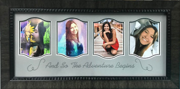 The Adventure Begins Photo Display Frame