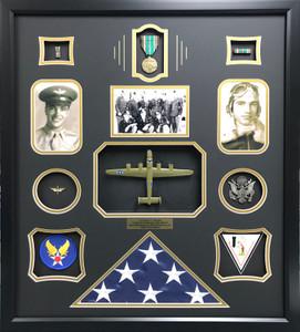 World War II Co-Pilot Shadow Box Display Frame