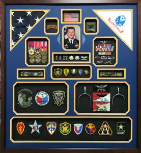 Double Flag U.S. Army Retirement Display Frame