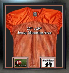 Sports Jersey Frame w/2 Landscape Photo Windows Merged