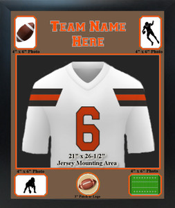 Sports Jersey Frame with Team Name, Photos and Logo Windows