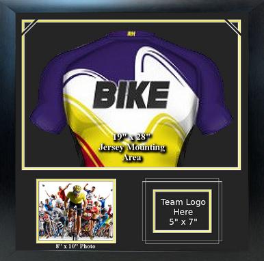 "Sports Jersey Frame with Team Logo, 8"" x 10"" Photo"