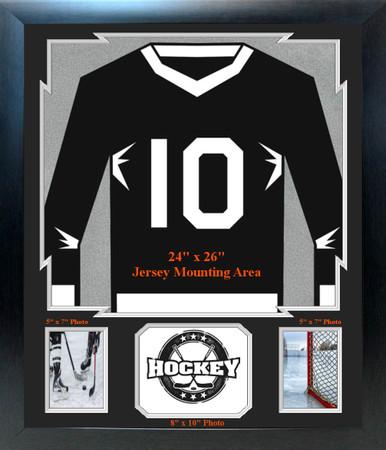"""Sports Jersey Frame with 2-  5"""" x 7"""" Photo Windows, 1- 8"""" x 10"""" Photo Window"""
