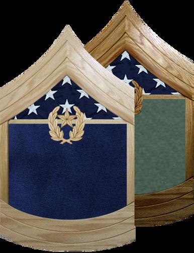 US Army E-9 Command Sergeant Major Shadow Box w/ Flag Window