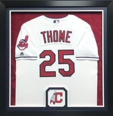Cleveland Indian Autograph Baseball Jersey Display Frame