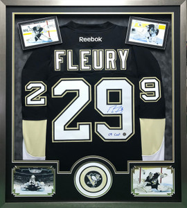 Pittsburgh Penguins Hockey Autographed Jersey Display Frame