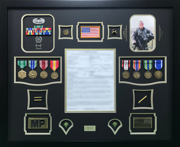 Army Military Police Shadow Box Display