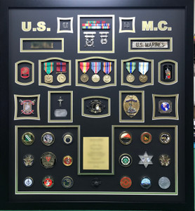 USMC Military Police Shadow Box Display
