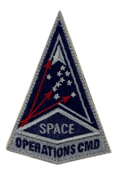 U.S. Space Force Patch - Space Operations Command w/hook closure