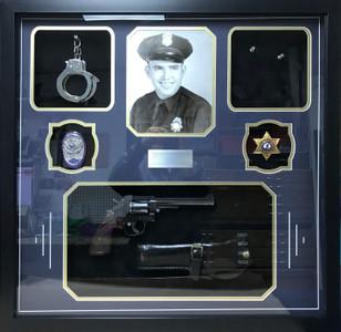 Police Retirement Shadow Box Display