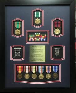 US Marine Corp Shadow Box Display