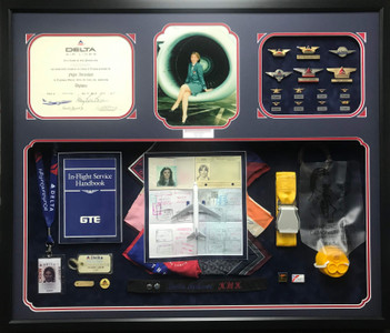 Delta Airlines Retirement Shadow Box Display