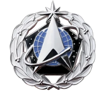 Space Force Identification Badge: Space Staff- regulation size