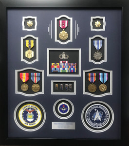 Air Force Space Force Shadow Box Display