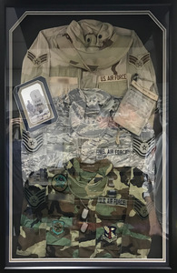 USAF Triple Uniform Shadow Box Display