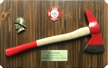 Assistant Fire Chief Retirement Display