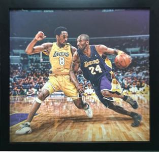 Kobe vs Kobe Framed Print
