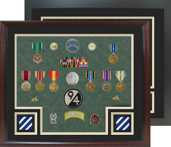 """20"""" x 24"""" 3rd Infantry Open Shadow Box Display"""