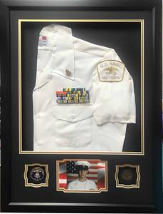 U.S. Navy Sea Cadet Half Blouse Shadow Box Display