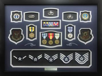 U.S. Air Force TSgt Shadow Box Display