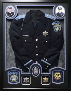 Police Uniform Shadow Box Display
