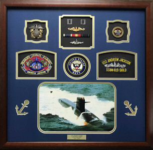 U.S.S. Andrew Jackson U.S. Navy Shadow Box Display